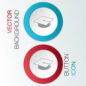 Graduate hat sign. — Stock Vector