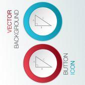 Triangle math icon — Stock Vector