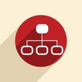 Server network icon — Stock Vector