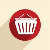 Cart online store sign. — Stock Vector