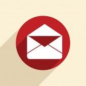 Postal envelope icon — Stock Vector