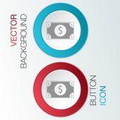 Dollar bill-ikonen — Stockvektor