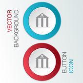 Bank-gebäude-symbol — Stockvektor