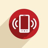 Ringande telefon, ring ikonen — Stockvektor