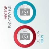 Suitcase with money icon — Stock Vector