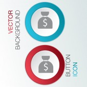 Bag of money icon — Stock Vector