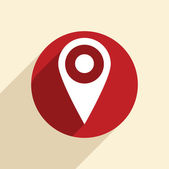Pin location on  map icon — Stockvector