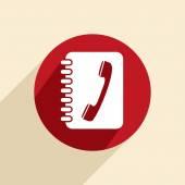 Phone address book icon — Stock Vector