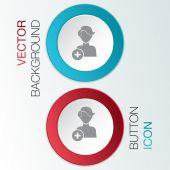 Add friend icon — Stock Vector
