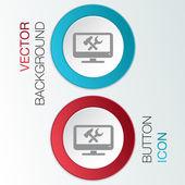 Monitor, symbol settings — Stock Vector