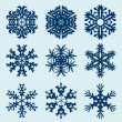 Snowflakes icon. Winter theme. — Vector de stock  #55268263