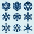 Snowflakes icon. Winter theme. — 图库矢量图片 #55268263