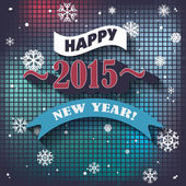 2015 Happy New Year background — Stock Vector