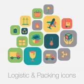 Logistic and packing icon — Stock Vector