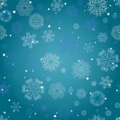 зимние бесшовный фон со снежинками — Cтоковый вектор