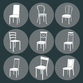 Chair icon set. symbol furniture — Vetorial Stock