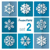 Snowflakes icon. Winter theme. — Stock Vector