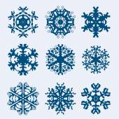 Snowflakes icon. Winter theme. — Stock Vector