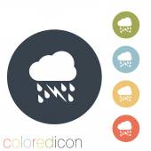 Cloud rain lightning icon — Stock Vector