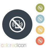 Forbidden to use mobile phone icon — Stock Vector
