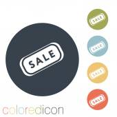 Sale label icon — Stock Vector