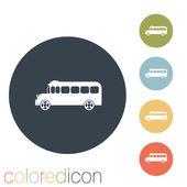školní autobus ikona. — Stock vektor