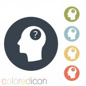 Head with a question mark icon — Stockvektor