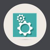 Symbol settings. cogwheel — Stock Vector