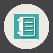 Phone address book — Stock Vector