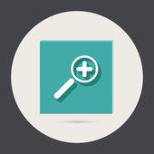 Magnifier increase round icon — Vector de stock