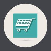 Tienda online de carro — Vector de stock