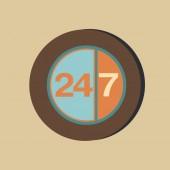 Character 24 7. symbol — Stock Vector