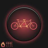 Retro bicycle icon — Vetorial Stock