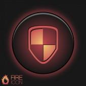 Protect shield icon — Stock Vector