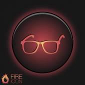 Eyeglasses sign — Stock Vector