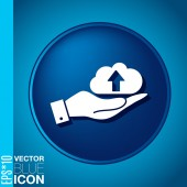 Hand holding   cloud download — Stock Vector