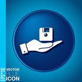 Computer floppy disk icon — Stock Vector