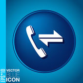Incoming and outgoing call — Stockvektor