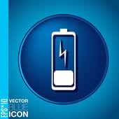 Discharged battery — Vector de stock