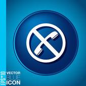 Forbidden to use phone — Stock Vector