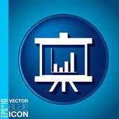 Presentation graphics. — Stock Vector