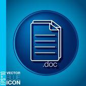 Document icon — Stock Vector