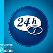 Character 24 7. — Stock Vector