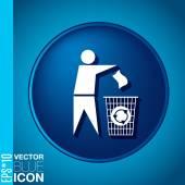 Do not litter — Stock Vector