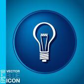 ícone de lâmpada elétrica — Vetor de Stock