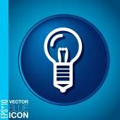 Icono bombilla — Vector de stock