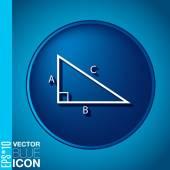 Icon of geometry — Vector de stock