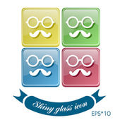 Hipster icon symbol — Stock Vector
