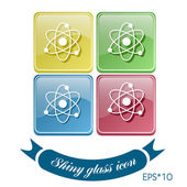 Icon of physics or chemistry — Stock Vector