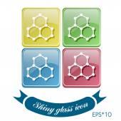 Symbol of chemistry — Stock Vector